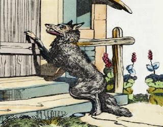 Il lupo, il bimbo e la vecchia - Esopo