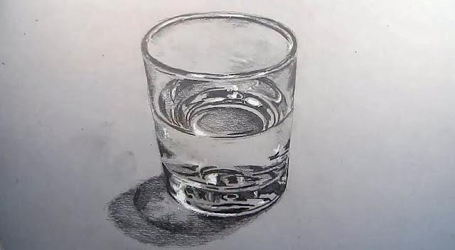 วิธีการวาดแก้วน้ำ3มิติด้วยมือให้ออกมาเหมือนจริงมากที่สุด