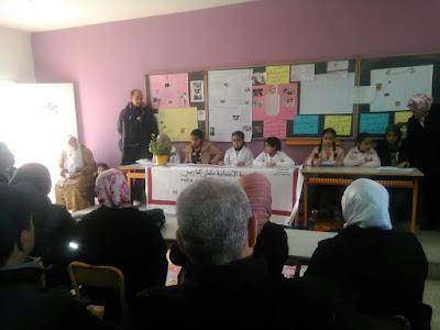 لقاء تواصلي حول العنف لفائدة أمهات وآباء وأولياء التلاميذ بمدرسة سلمان الفارسي بمديرية عين الشق