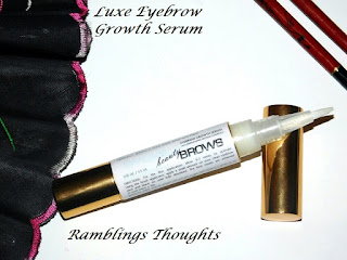 Ramblings Thoughts, Review, Video Review, Beauty Product, Luxe Beauty Eyebrow Growth, Serum,