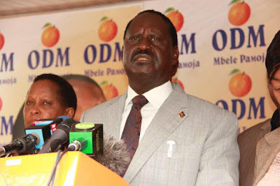 Raila Odinga in a press statement. PHOTO | FILE