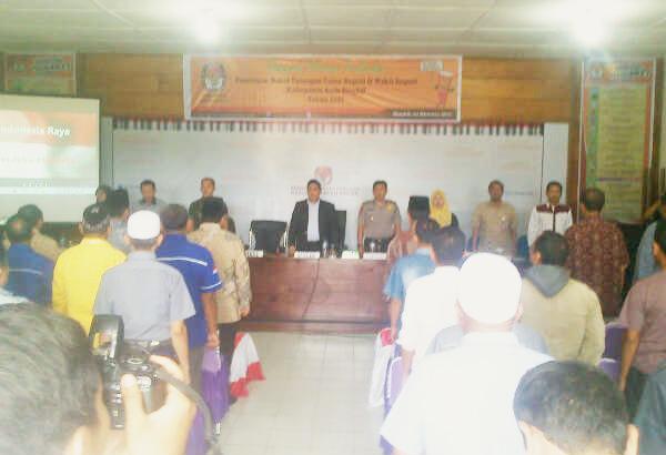 KIP Aceh Singkil Tetapkan 4 Pasangan Calon Kepala Daerah