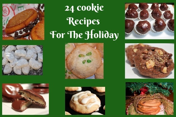 this is 24 kinds of cookie recipes for the holiday