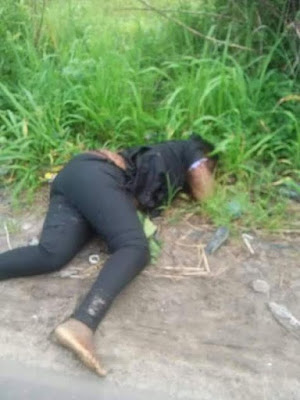 unnamed - Young lady murdered and her remains dumped on the roadside in Delta state (Photos)