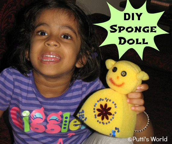 DIY Sponge Doll kids