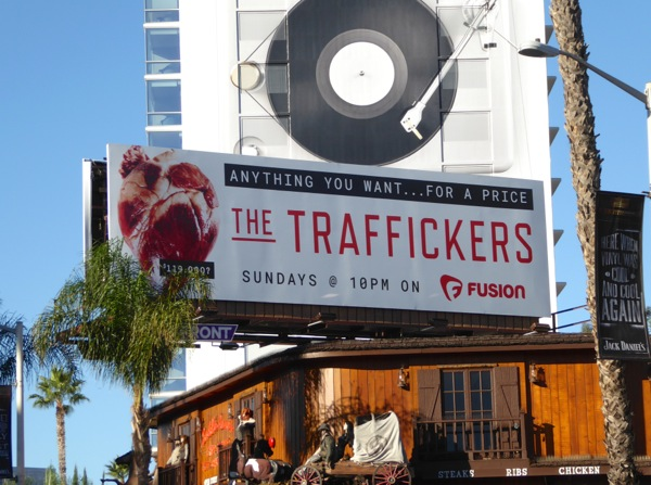 Traffickers TV billboard