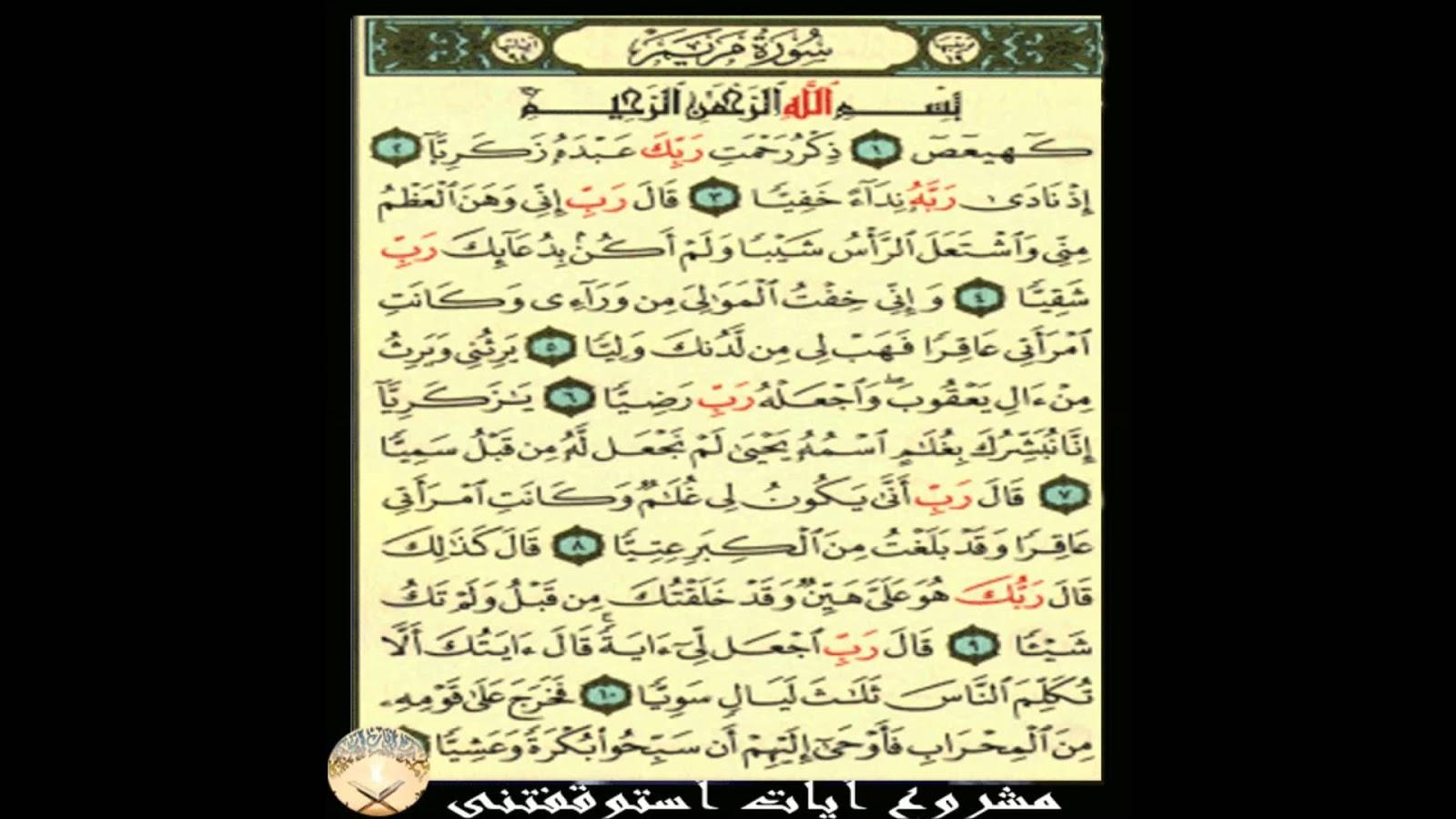 Surat Maryam Ayat 1 11 Tafsir Bacaan Dan Terjemahan Qs