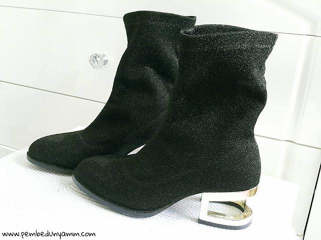 simli çorap botlar