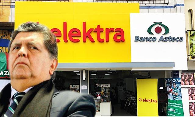 Elektra pagó 80 mil dólares a Alan García por conferencia
