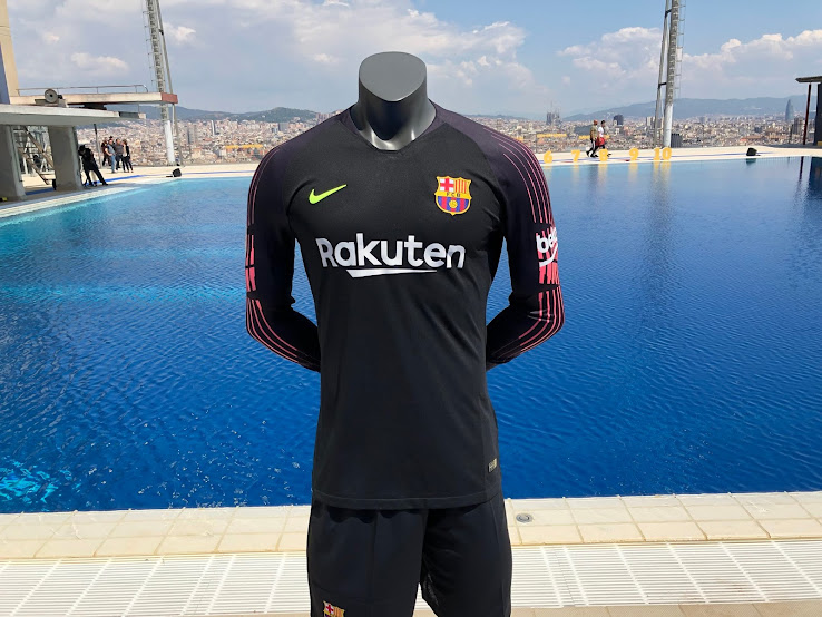 654faba6a Navy Nike Barcelona 2018-19 Goalkeeper Kit