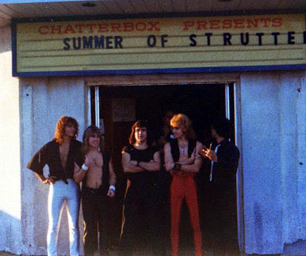 Strutter at the Chatterbox entrance in Seaside Heights, New Jersey