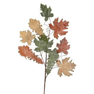 burlap maple leaf craft stem