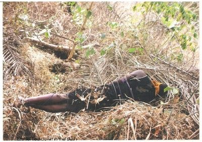 Chaos as Man Butchers His Own Sister then Tries to Bury His Brother and Friend Alive in Abia (Graphic Photos)