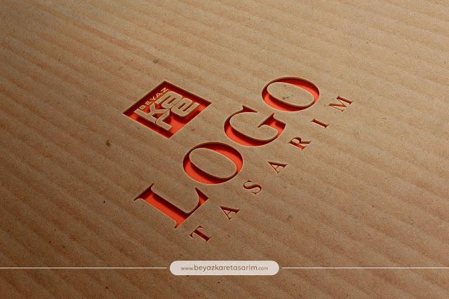 3D logo tasarımı karton oyma