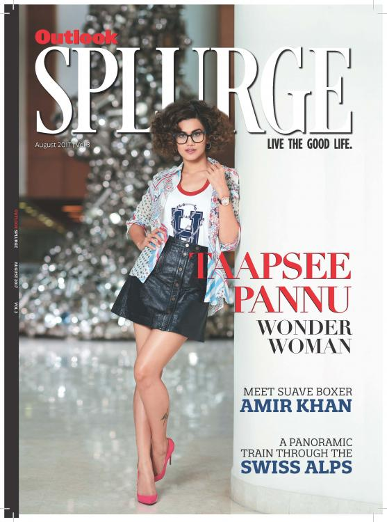 Taapsee Pannu Graces The Cover of Outlook Splurge Magazine August Issue 2017