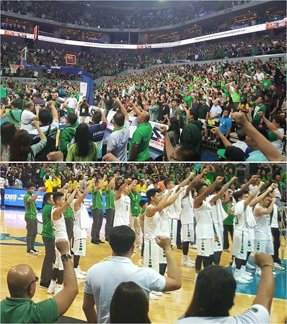 Ateneo, La Salle Fans Ignore Prompt Against Duterte: 'Sports Should Not Mix With Politics'