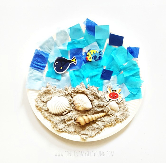 beach sensory paper plate craft from my creative box