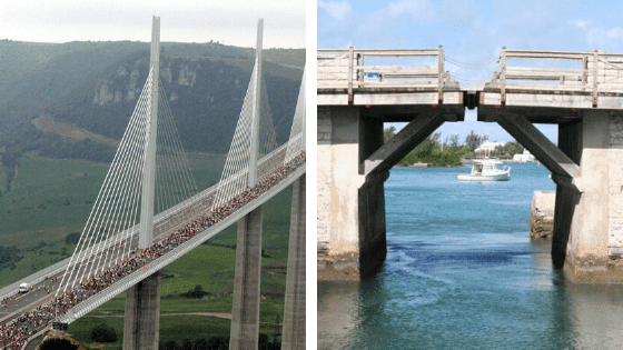 The tallest/smallest bridge