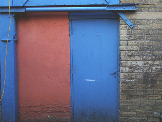 urban photography, urban decay, industrial, blue door, urban photo, grim, Sam Freek, art, contemporary,