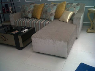 service sofa L shape minimalis di harapan indah