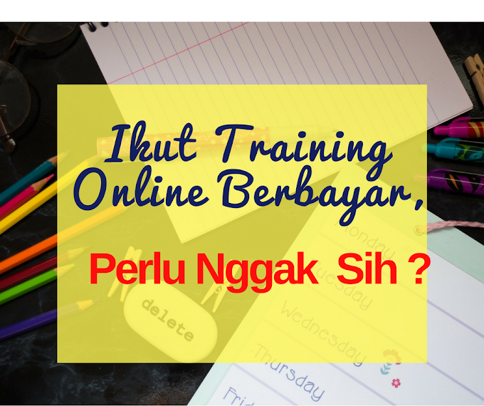 Ikut Training Online Berbayar, Perlu Nggak Sih