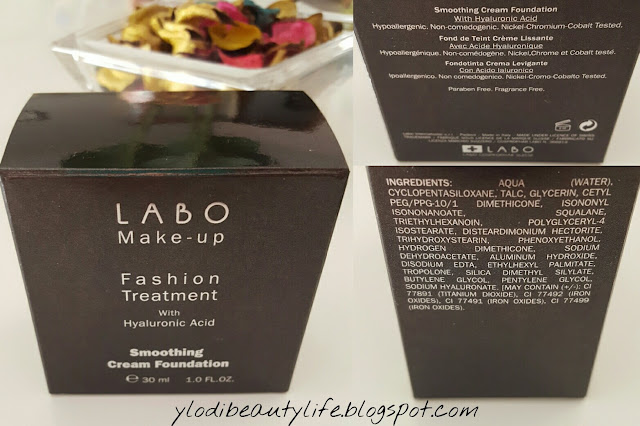 Labo Make-up Fashion Treatment with Hyaluronic Acid Smoothing Cream Foundation ingredienti