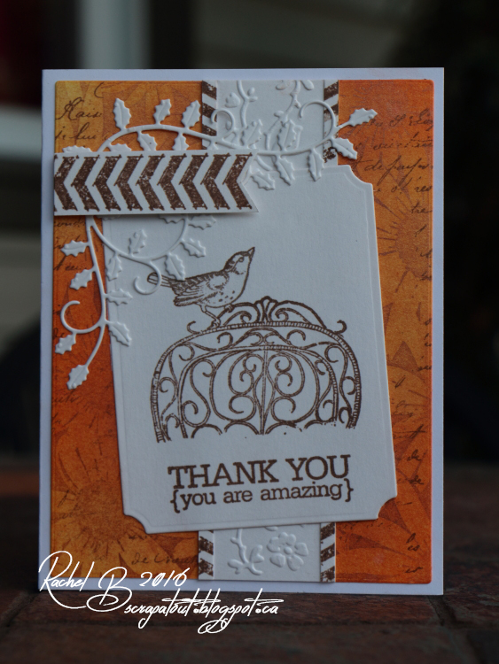 Scrapatout - Handmade card, Thank you, Impression Obsession stamp & dies, Spellbinders, Cuttlebug embossing folder