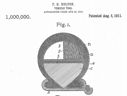 U.S. Patent Number 1,000,000 - Figure 1