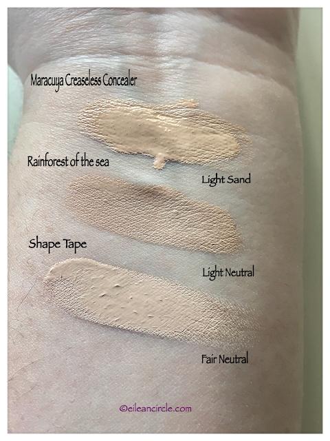 Tarte Cosmetics, corrector, concealer, makeup, shape tape, maracuja concealer, aquacealer concealer