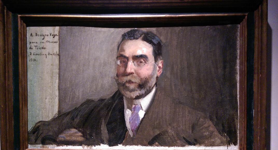 Don Benigno de la Vega Inclán retratado por Sorolla