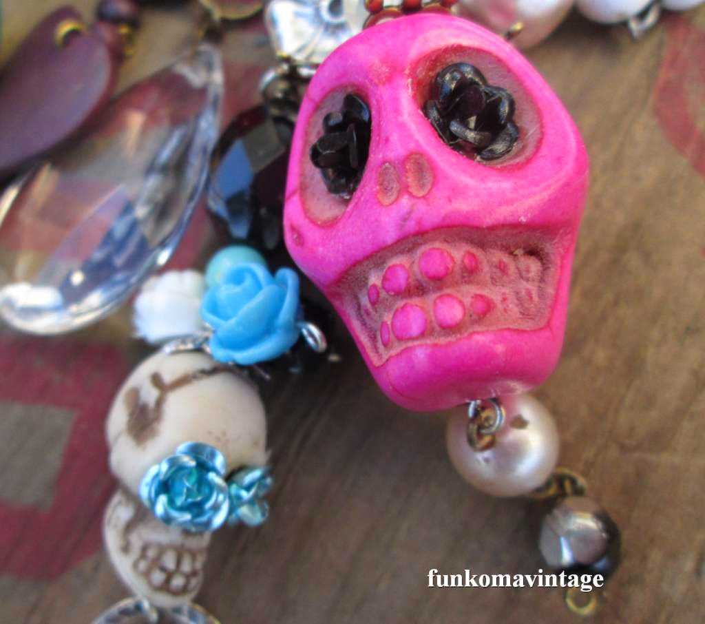 handmade jewelry of skulls, roses, crystals and Mexi Cali in my soul.