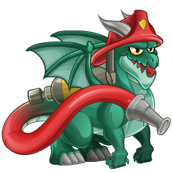 Appearance of Firefighter Dragon when teenager