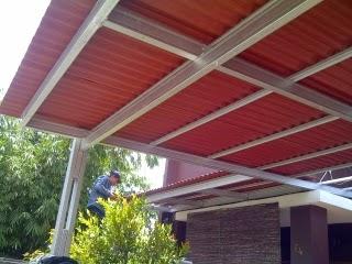 kanopi baja ringan tiang double tangerang canopy murah