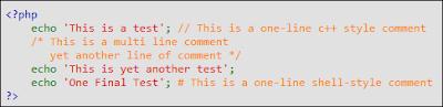 contoh komentar php