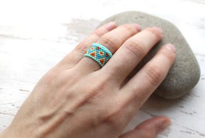 кольца из бисера купить необычные кольца бижутерия