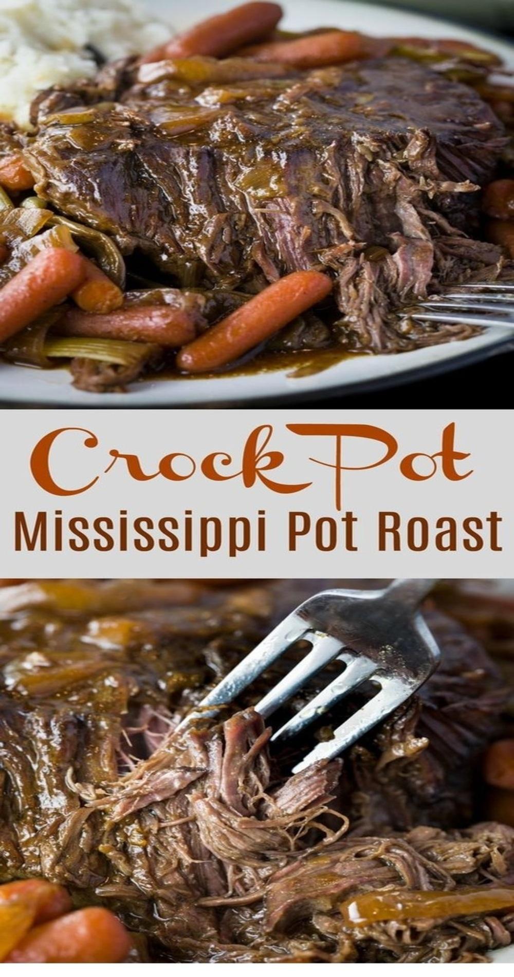 Crock Pot Mississippi Pot Roast
