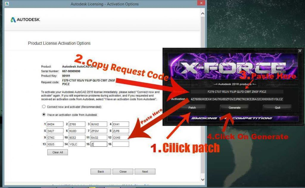 xforce keygen for autocad 2016