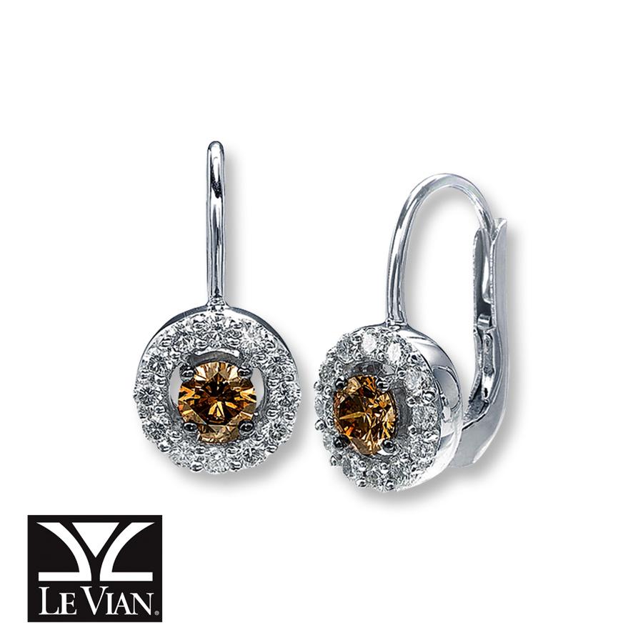 1e07c9700 nataliacerri: Kay Blue Diamond Earrings 1/2 ct tw RoundCut 10K White ...