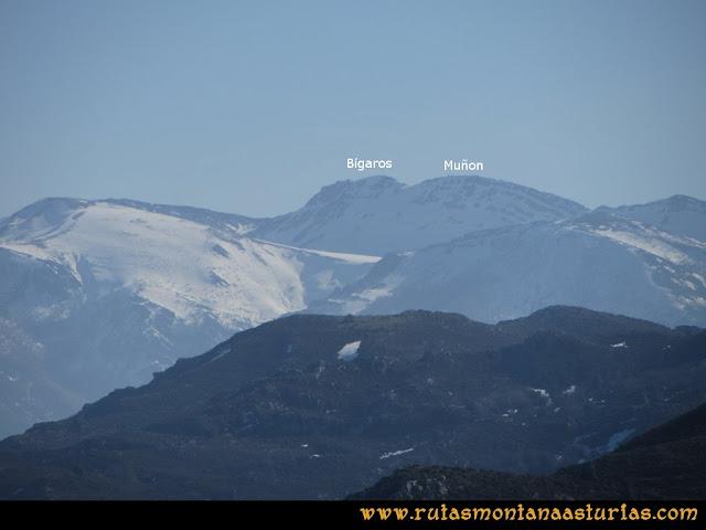 Ruta Linares, La Loral, Buey Muerto, Cuevallagar: Desde la Loral, vista del Bígaros y Muñón