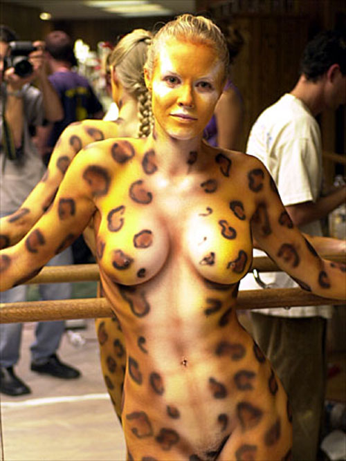 Sexy body paint nude
