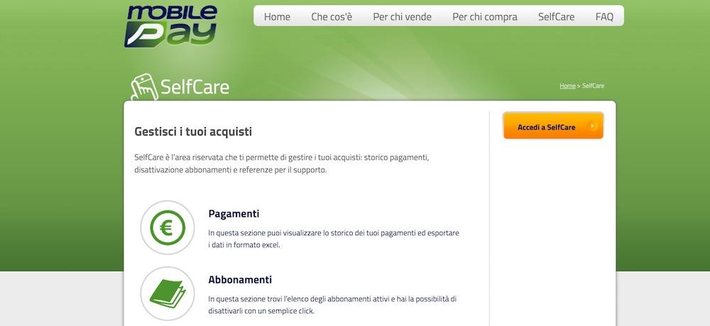 come disattivare mobile passione tramite sito selfcare