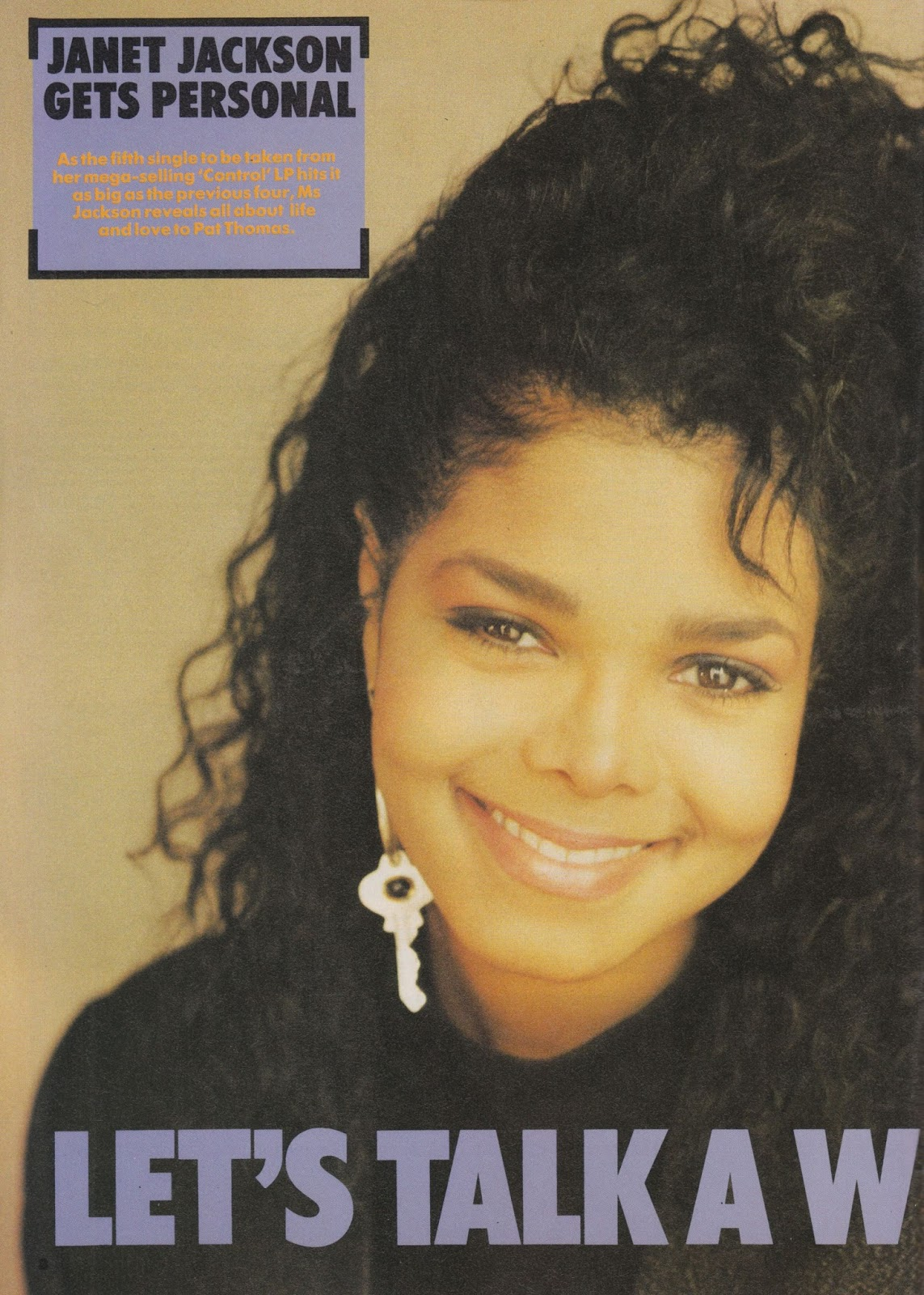 Top Of The Pops 80s Janet Jackson Number One Magazine 1987