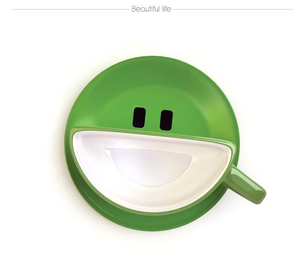 Diseño de taza creativa con forma de rostro