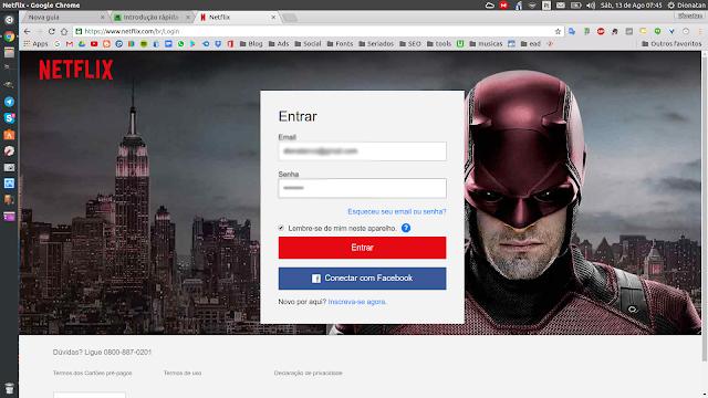 Acessando o site da Netflix pelo Linux