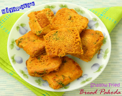 Niya's World: Shallow Fried Bread Pakoda (Tawa method)
