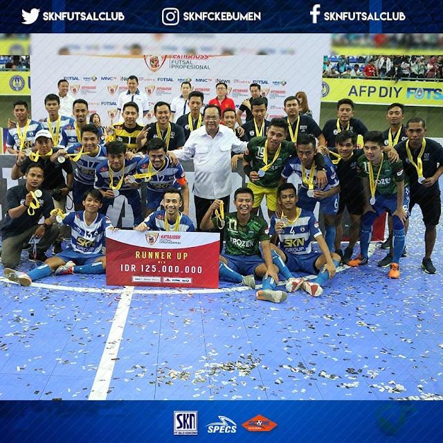 Runner Up, SKN FC Kebumen Wakili Indonesia di Kejuaraan Futsal Tingkat Asean