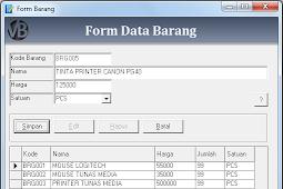 Tutorial Membuat Form Input Barang Program Aplikasi Penjualan VB 6.0 - Part10