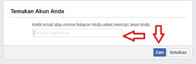 facebook lupa Emailpassword