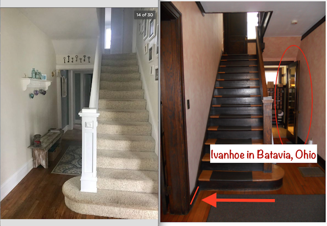 staircase area comparison Sears Ivanhoe 200 • 305 S. Wilbur Avenue, Sayre, Pennsylvania vs Sears Ivanhoe in Batavia OH
