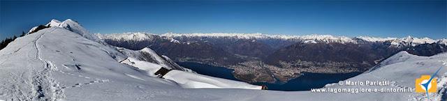 Monte Gambarogno e panorama sul lago Maggiore
